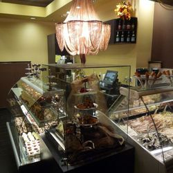 The gelato bar and sweets at Chocolat Bistro.
