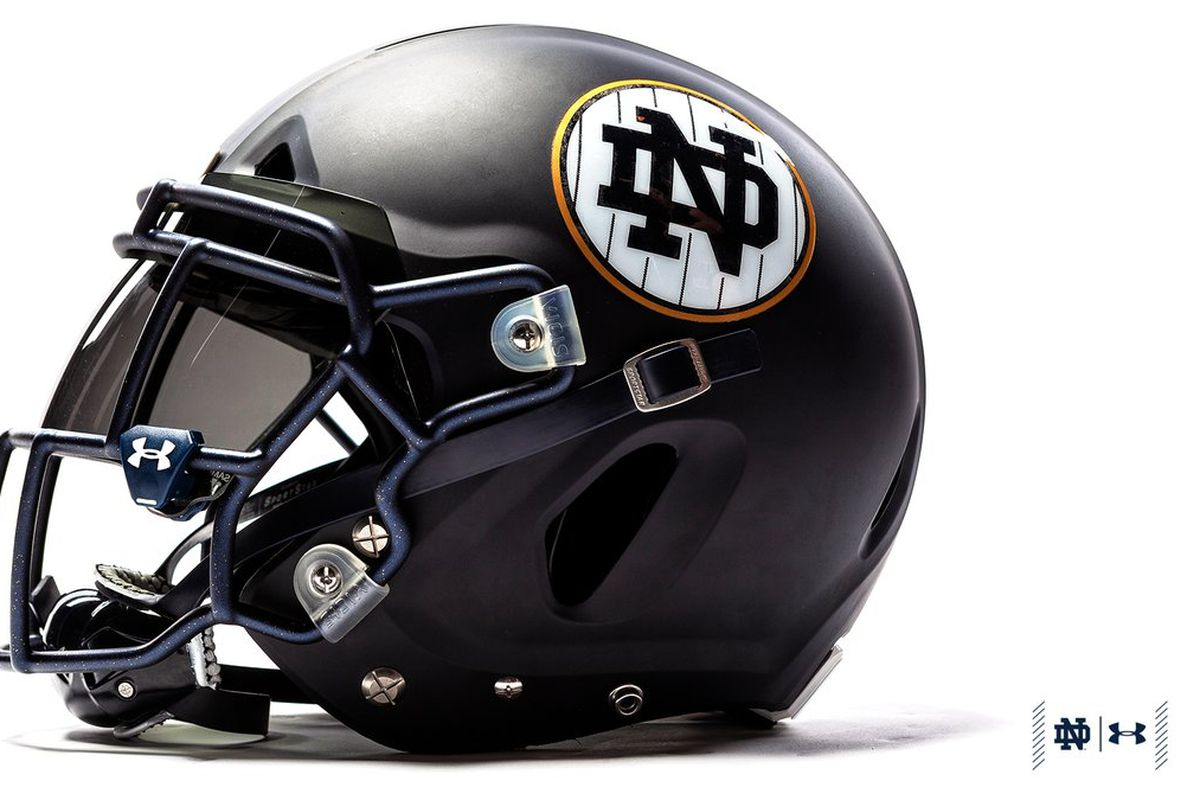 8120fadacbd Notre Dame Shamrock Series uniforms a far worse copy of Syracuse-Yankees  #BRAND