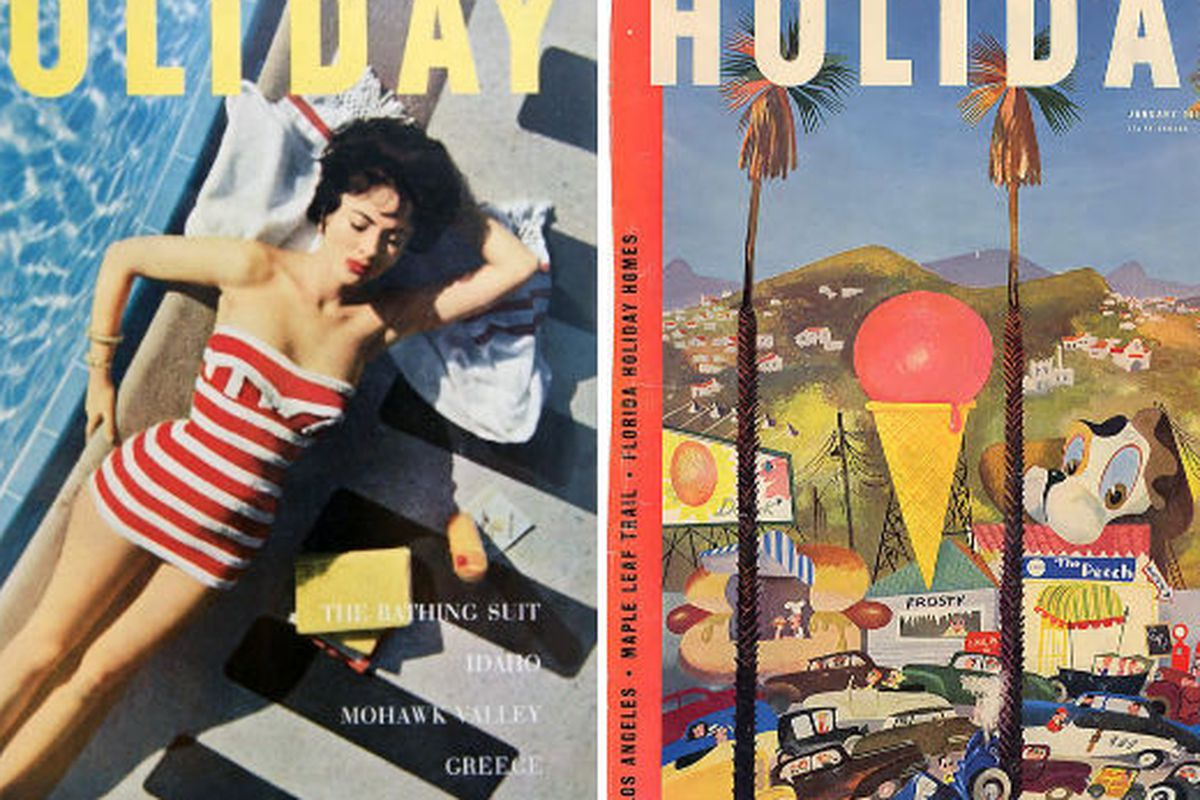 Vintage Holiday magazine covers