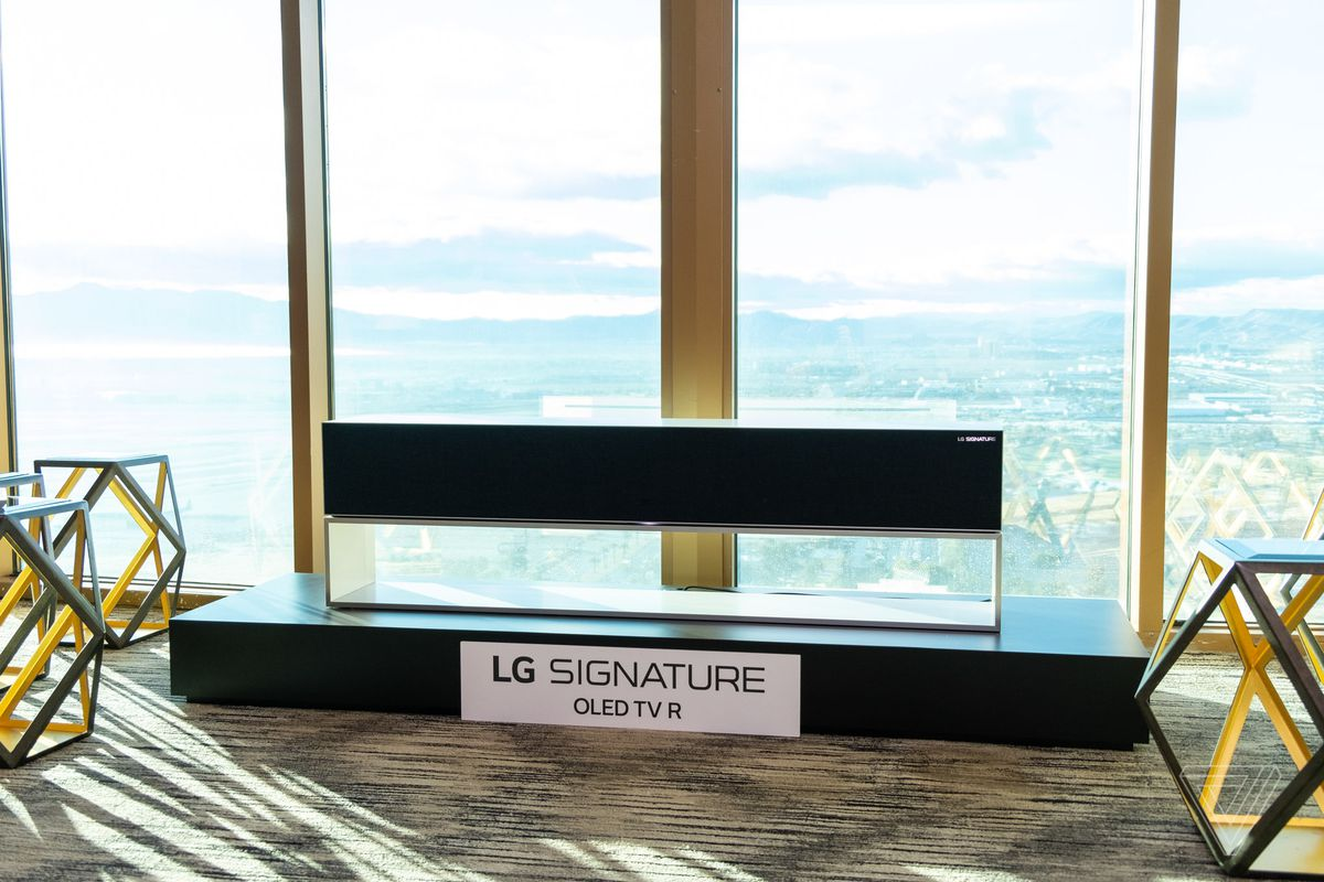 68c7d1704b9b LG's groundbreaking roll-up TV is going on sale this year - The Verge