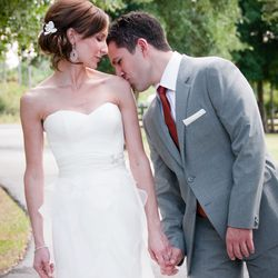 Amy and Pat Tomasulo photographed on their wedding day. | Provided Photo