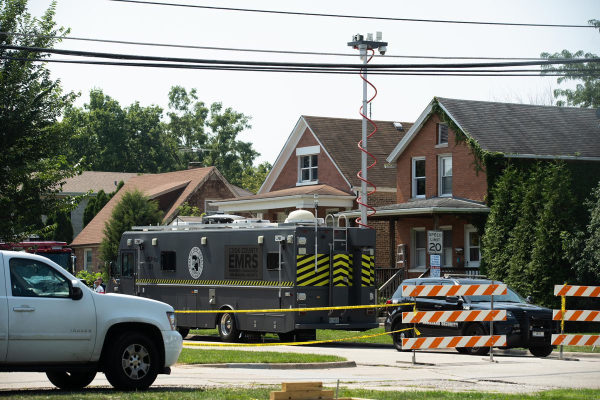 Two containers with human remains were found Saturday, Aug. 28, 2021 buried n the back yard of a home in the 3900 block of Center Avenue in Lyons.
