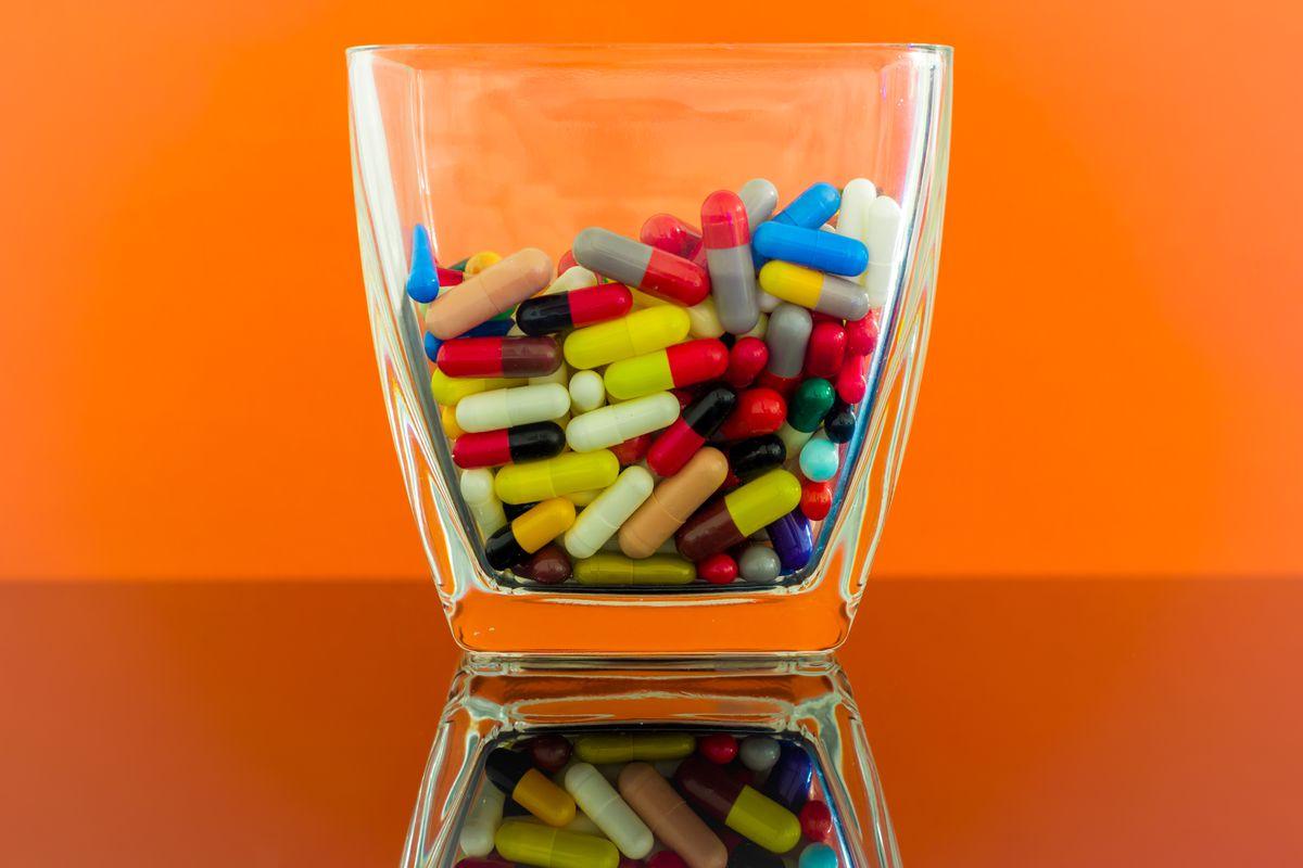 Giant jar of pills
