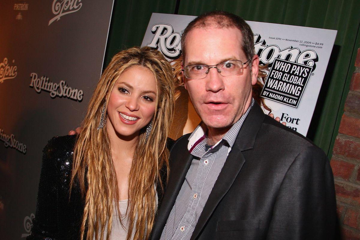 Rolling Stone managing editor Will Dana, with Shakira.