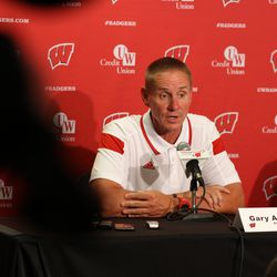Wisconsin head coach Gary Andersen contemplates position battles with fall practices beginning.