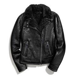 "<a href=""http://f.curbed.cc/f/Coach_SP_102413_moto"">Patent shearling moto jacket</a>, $2,198"