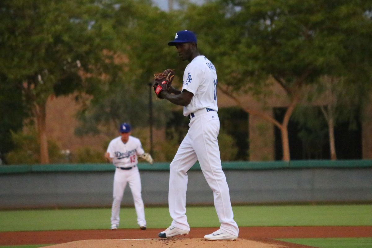 Yadier Alvarez then with AZL Dodgers now with Great Lakes
