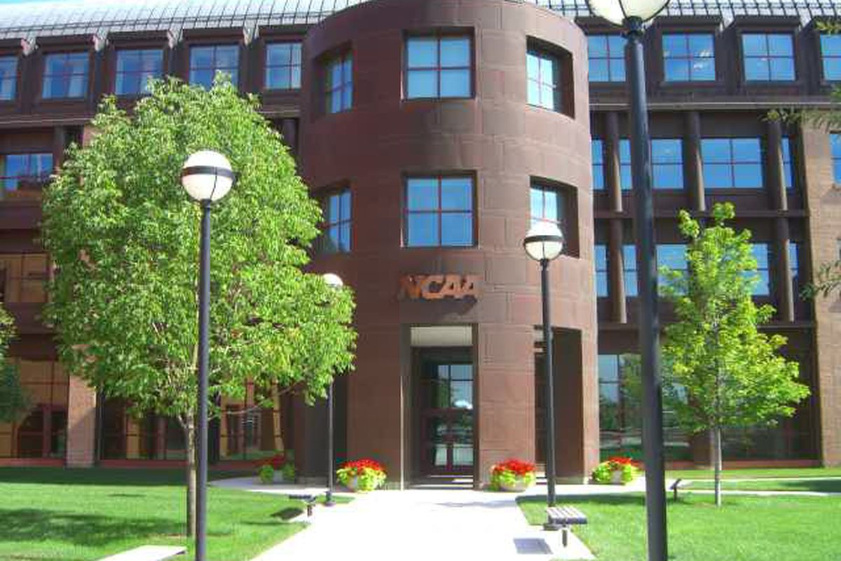 """NCAA National Headquarters in Indianapolis, IN (<a href=""""http://en.wikipedia.org/wiki/File:NCAA_HQ_CIMG0260.JPG"""" target=""""new"""">Wikimedia Commons Copyright</a>)"""