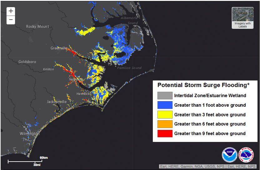 Hurricane Florence: storm surge, explained - Vox on