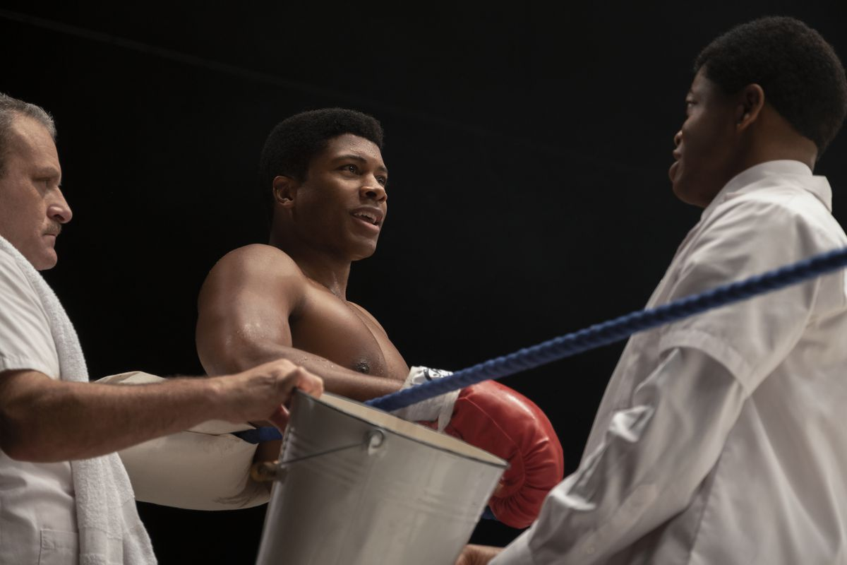 Eli Goree in the ring as Muhammad Ali in One Night in Miami
