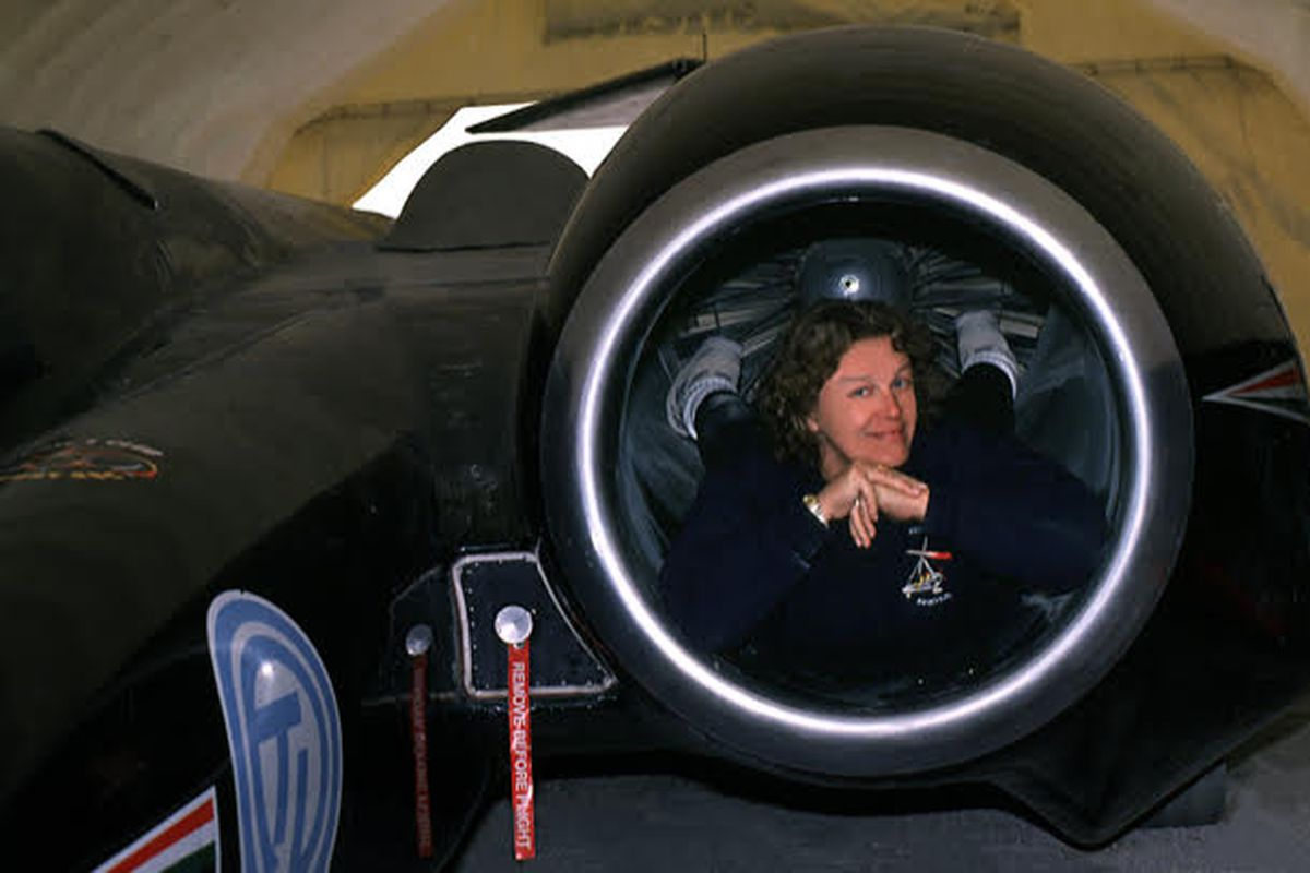 """""""LandSpeed"""" Louise Ann Noeth is the author of a new book about women drivers at Utah's famed Bonneville Salt Flats."""