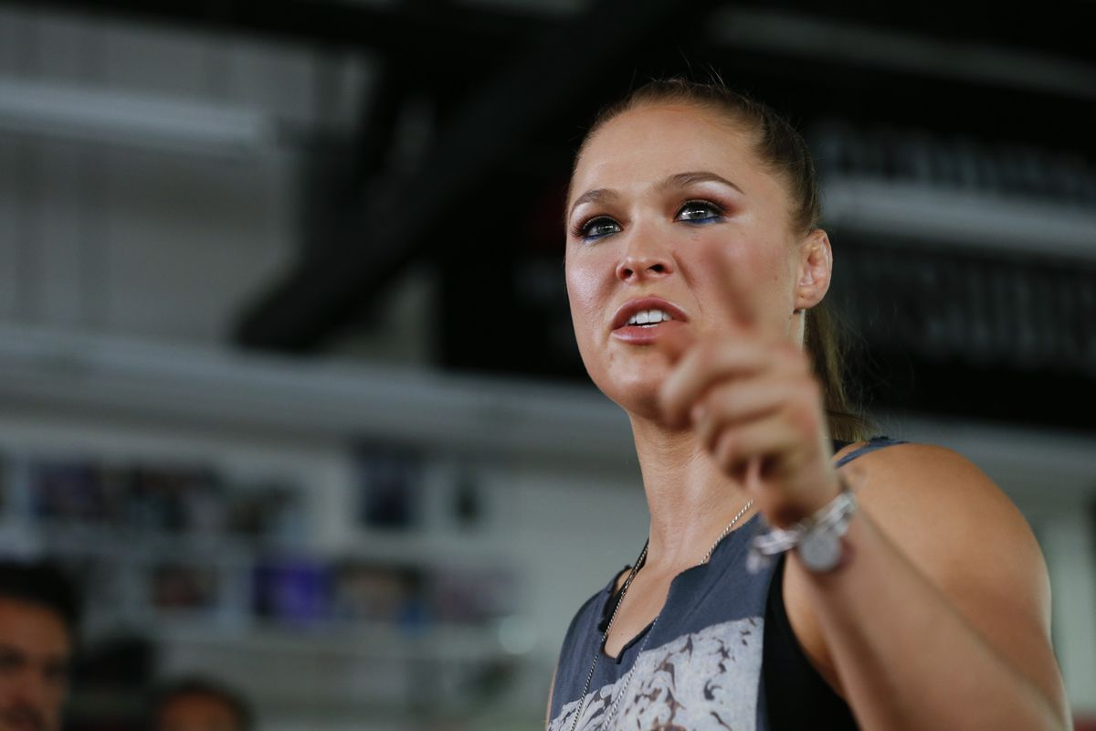 Angry Ronda Rousey