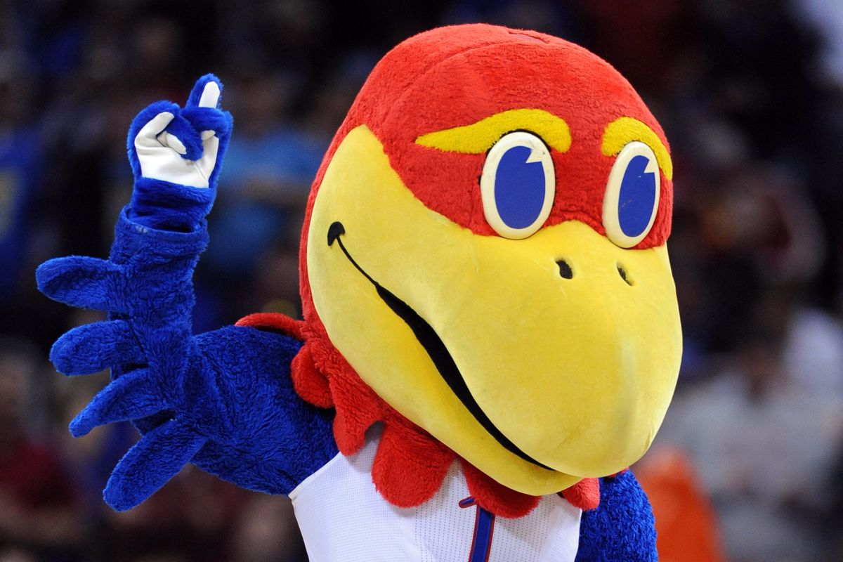 We subbed in a picture of LSU's Mike The Tiger for Colorado College earlier this season, so it's only fair that we use the Kansas Jayhawk this week.