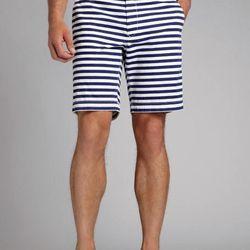 "The nautical stripes on these make them perfect for picnics and beach days. $78, <a href=""http://www.bonobos.com/blue-white-stripe-shorts-for-men"">Bonobos</a>"