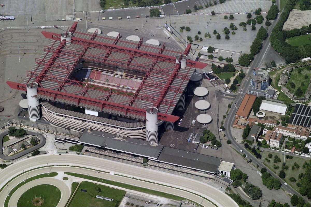 Aerial View Of Stadio San Siro, Milan