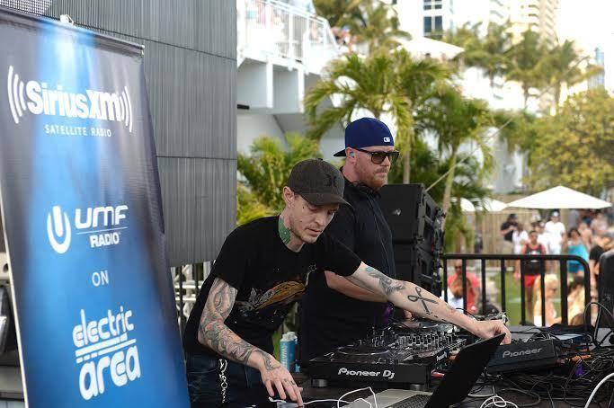 Deadmau5 & Eric Pryz at SiriusXM Lounge in Miami
