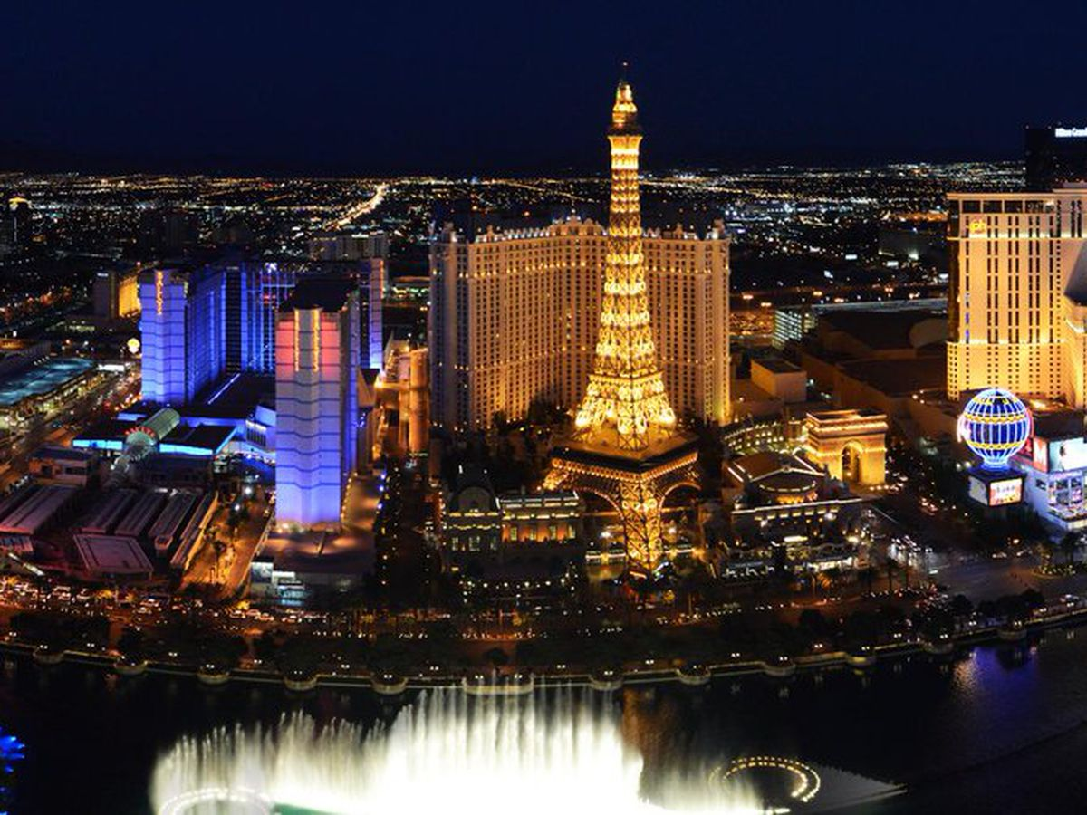 A View Of Paris Las Vegas From The Bellagio News Bureau