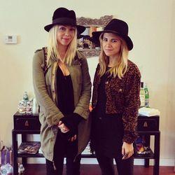 Simone Camille designer Simone Harouche with co-host Courtney Trop.