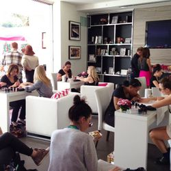 Complimentary mani stations.