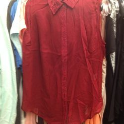 BNY sleeveless blouse with lace collar, $99 (was $139)