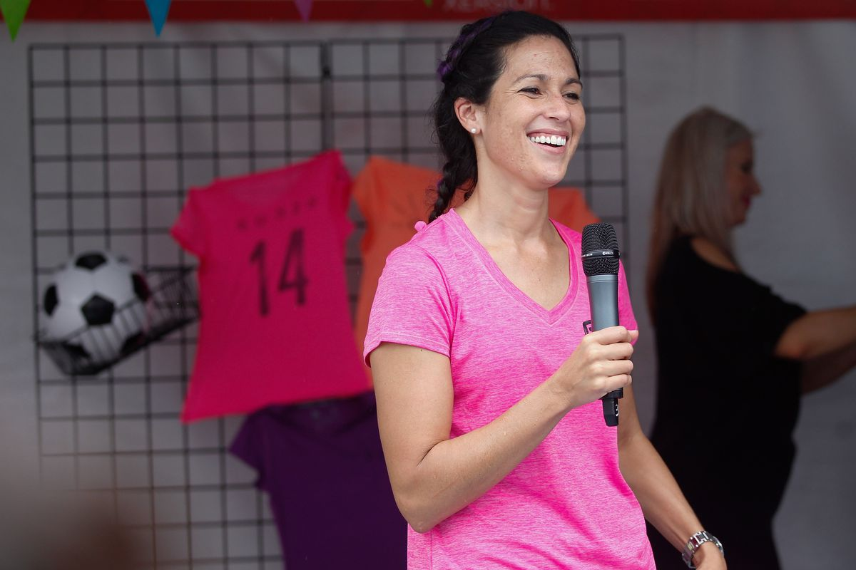 Monica Gonzalez: Comfortable in front of a microphone.