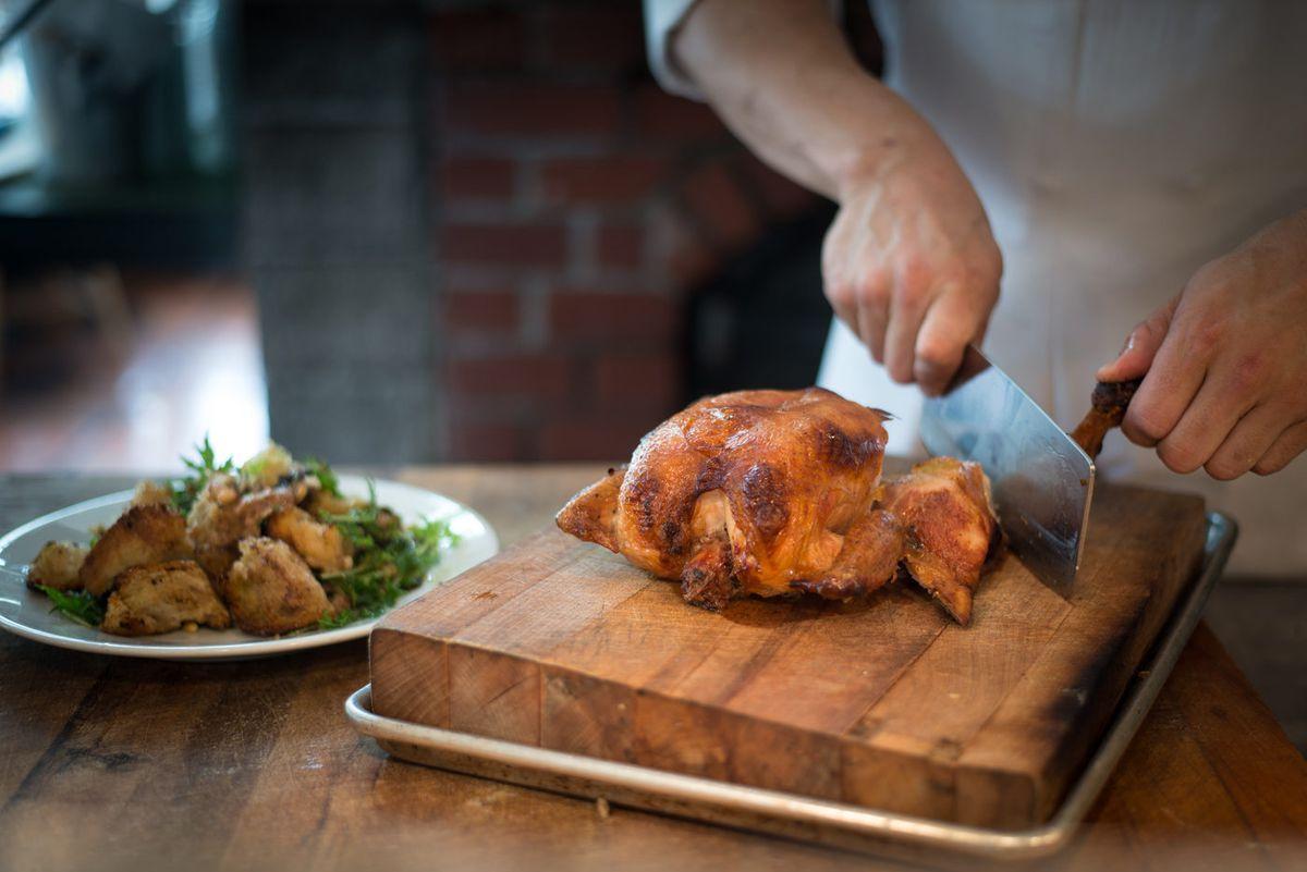 Roast chicken at Zuni Cafe