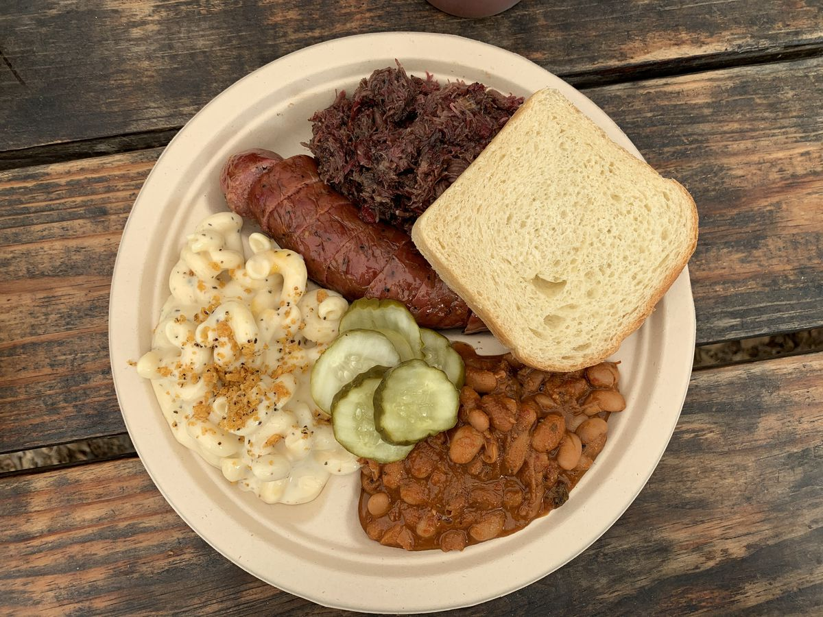A barbecue plate from Micklethwait Craft Meats
