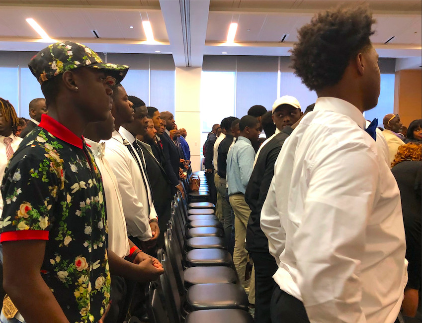 About 100 students came to the National Civil Rights Museum for Superintendent Joris Ray's announcement of an initiative focused on black boys.