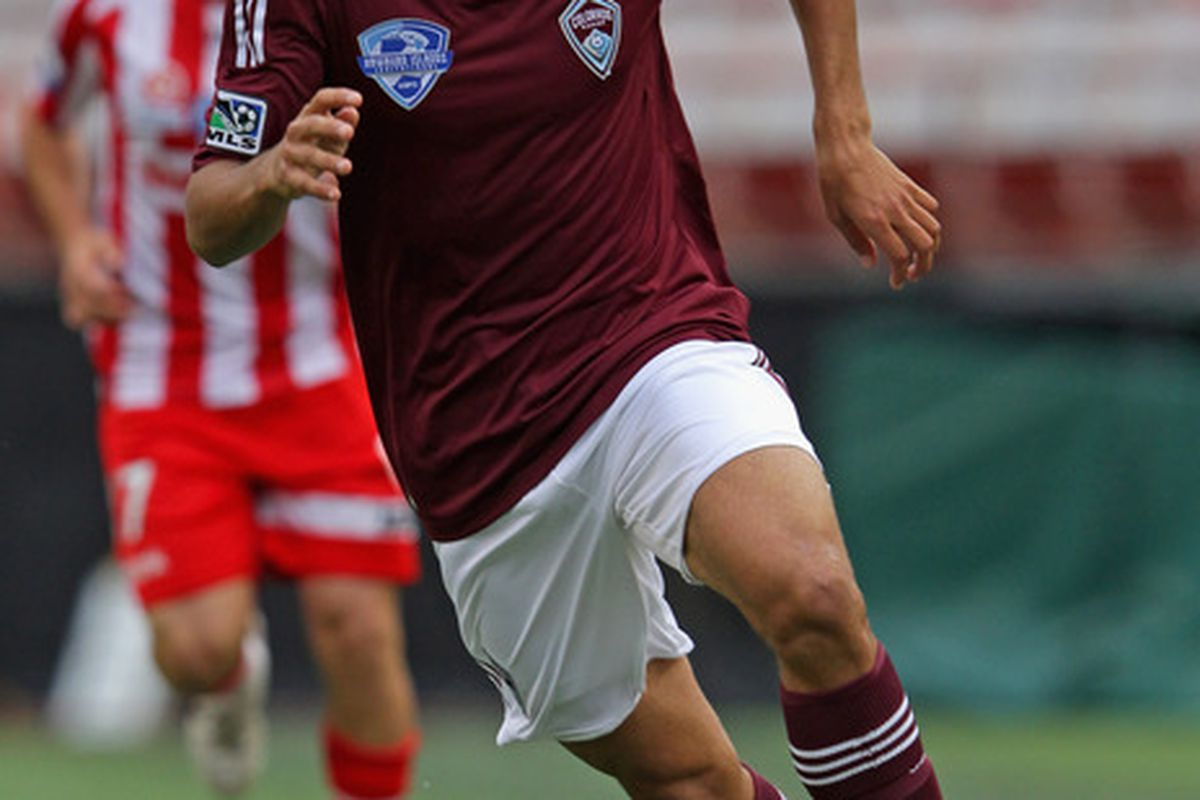 Rookie Tony Cascio is off to a strong start as a winger for the Colorado Rapids.  (Photo by Doug Pensinger/Getty Images)