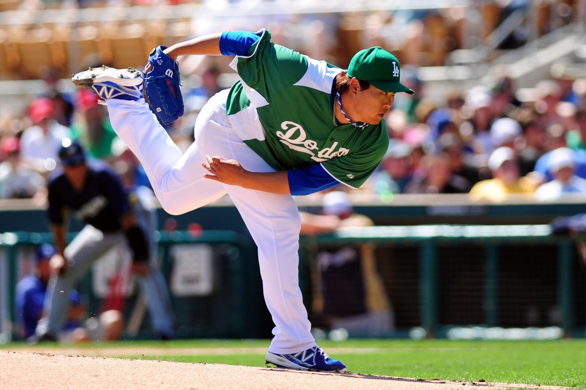 Hyun-jin Ryu will start somewhere for the Dodgers on Mar. 28, but we don't know whether it will be in Anaheim or Rancho Cucamonga.