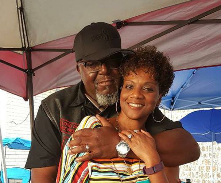 Chicago native Mark Pitts, with his wife, Relaine, moved to Houston after graduating Evanston Township High School in 1988. His family lost everything in Hurricane Harvey.   Provided photo