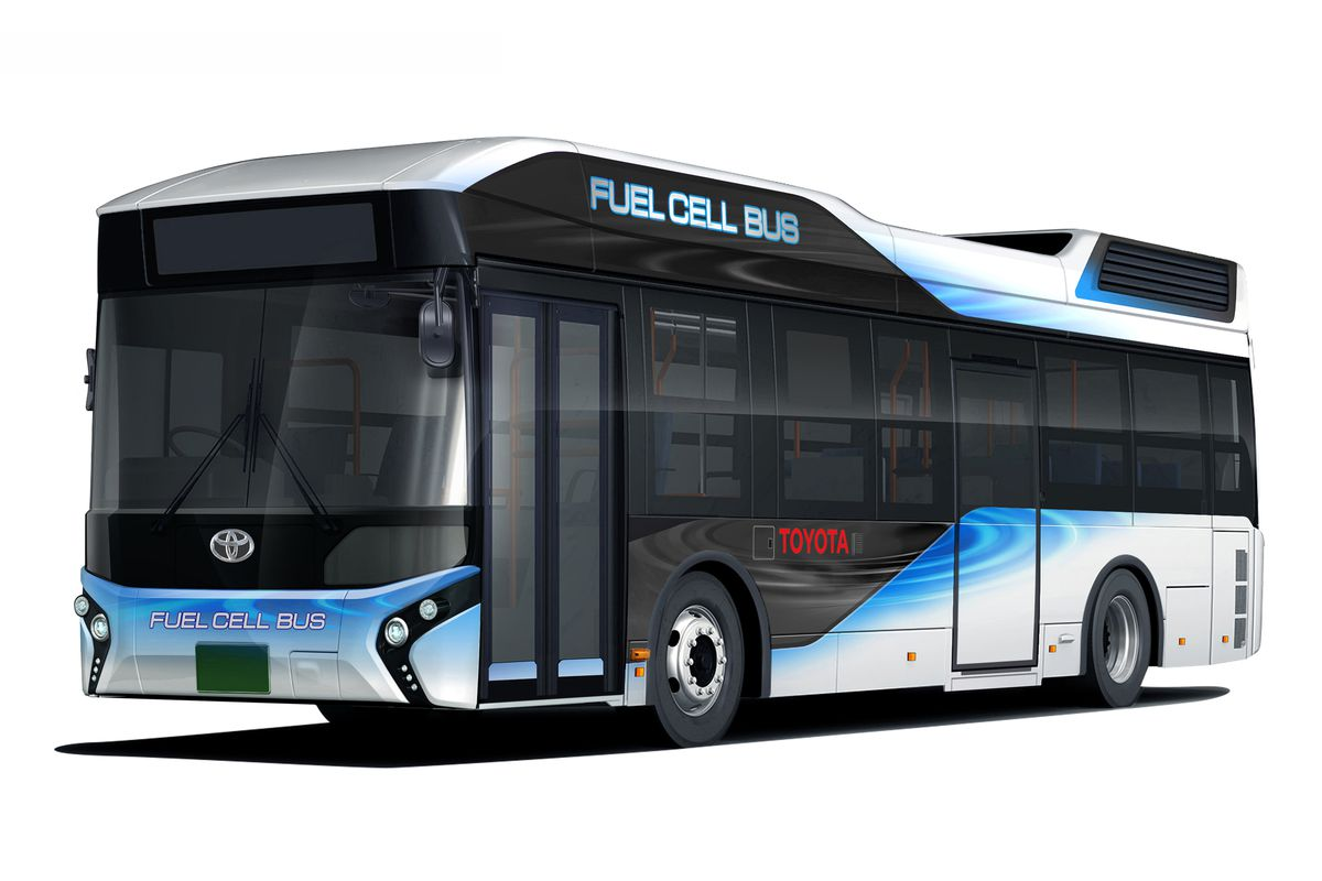 Hydrogen Generator For Cars >> Toyota's new hydrogen-powered bus also doubles as a powerful emergency generator - The Verge