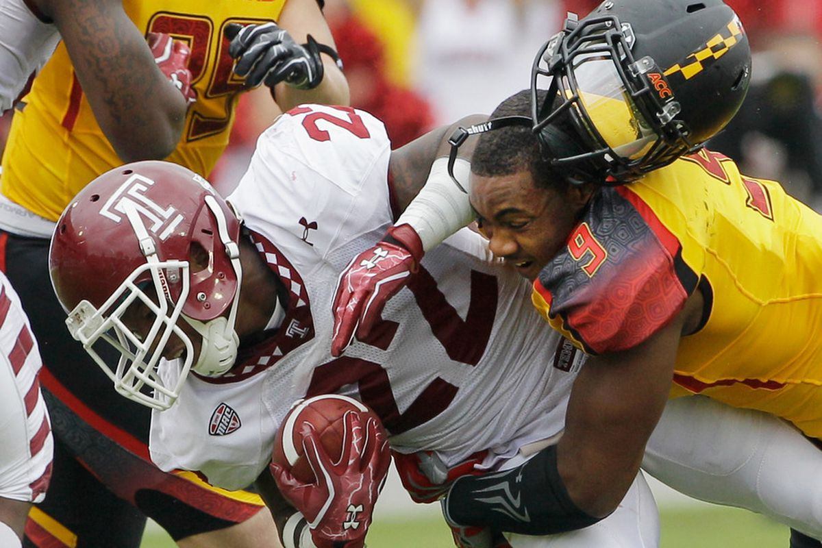 Temple's Matt Brown (22) should be a huge factor in the Owls' return game again in 2012.