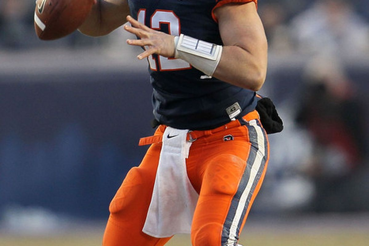 Will Senior Quarterback Ryan Nassib lead the Syracuse Orange to the biggest climb in 2012 conference standings? (Chris McGrath/Getty Images)