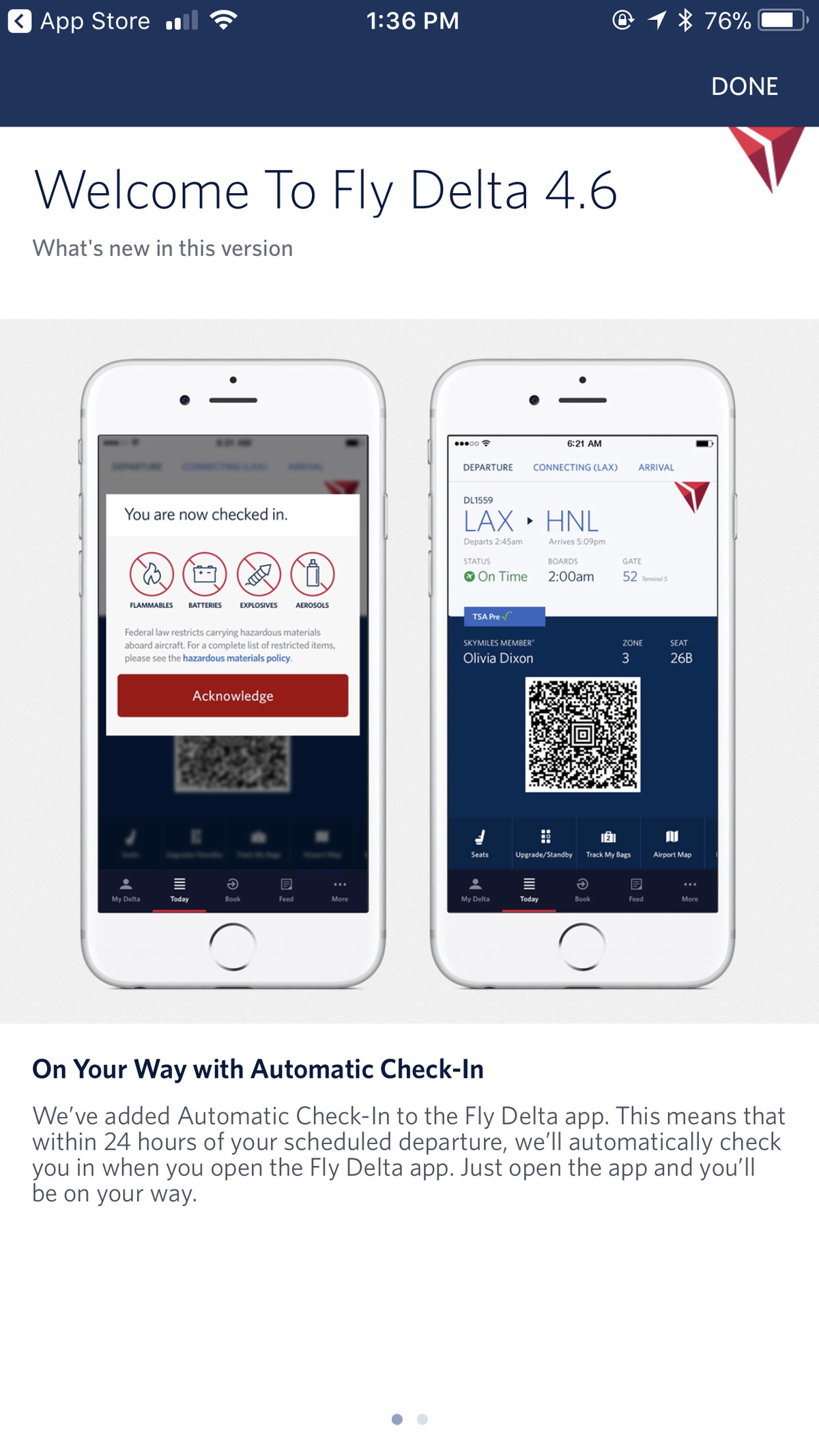 Delta will automatically check in passengers with its mobile app ...