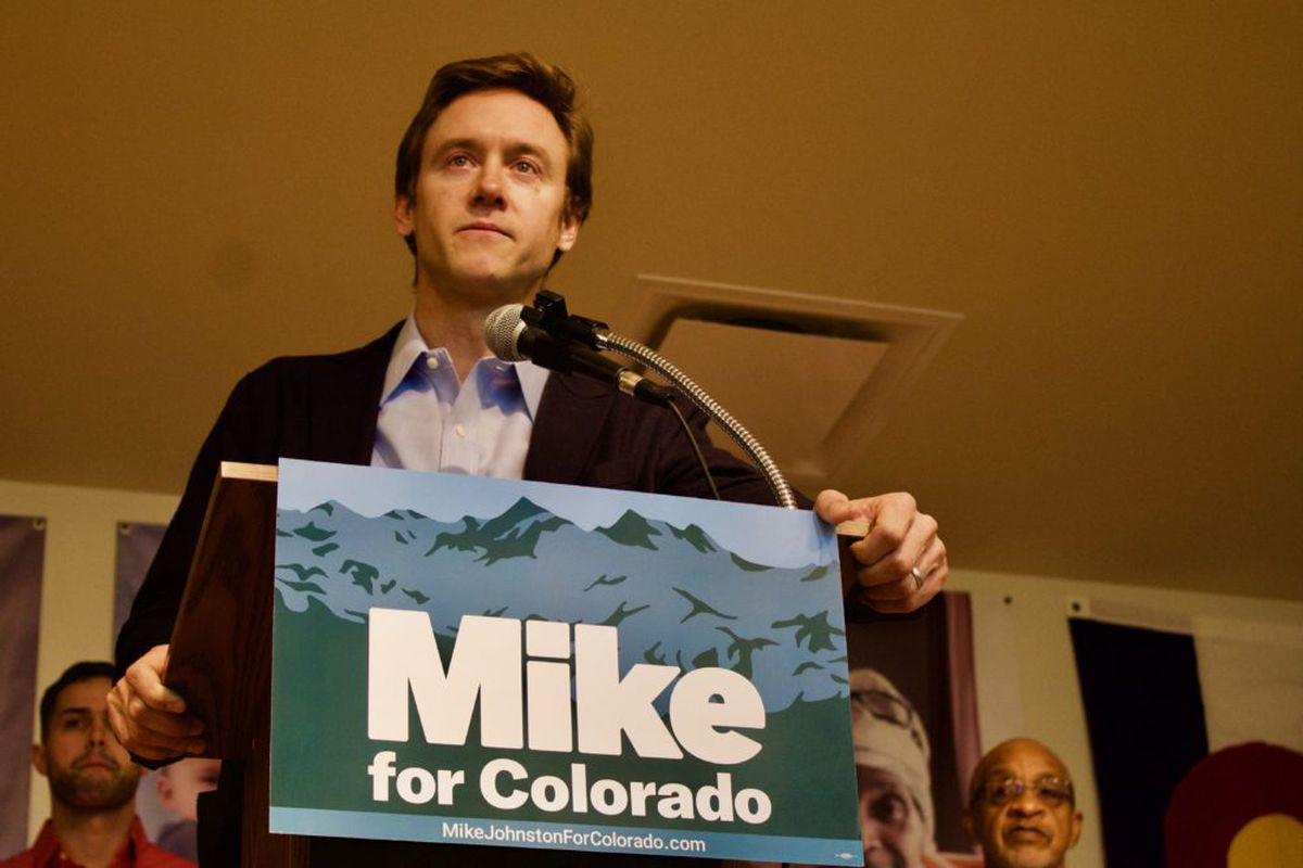 Former State Sen. Michael Johnston announced his gubernatorial campaign. (Photo by Nic Garcia/Chalkbeat)