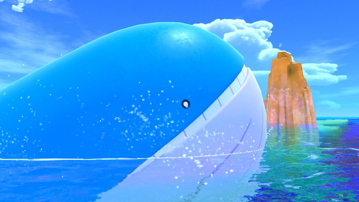 A Wailord in Pokemon Snap.