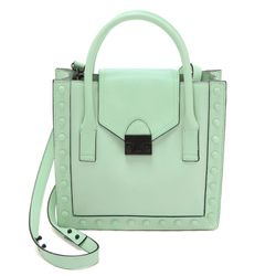 """<i>Loeffler Randall mini tote, <a href=""""http://www.shopbop.com/junior-work-tote-loeffler-randall/vp/v=1/1559100205.htm?fm=search-viewall-shopbysize"""">$395</a></i><br> """"Injecting a pop of pastel with accessories is a super easy way to incorporate the trend"""