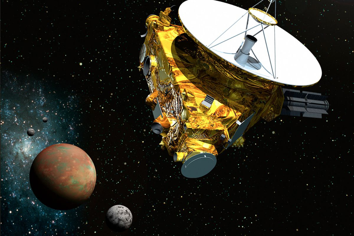 A rendering of New Horizons, set to arrive at Pluto in July.