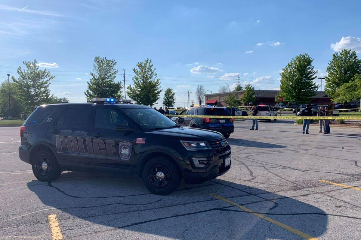 Two males were shot outside Woodman's Market June 1, 2021 in North Aurora.