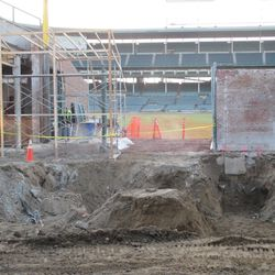 Another wide view of the excavation area next to Gate Q