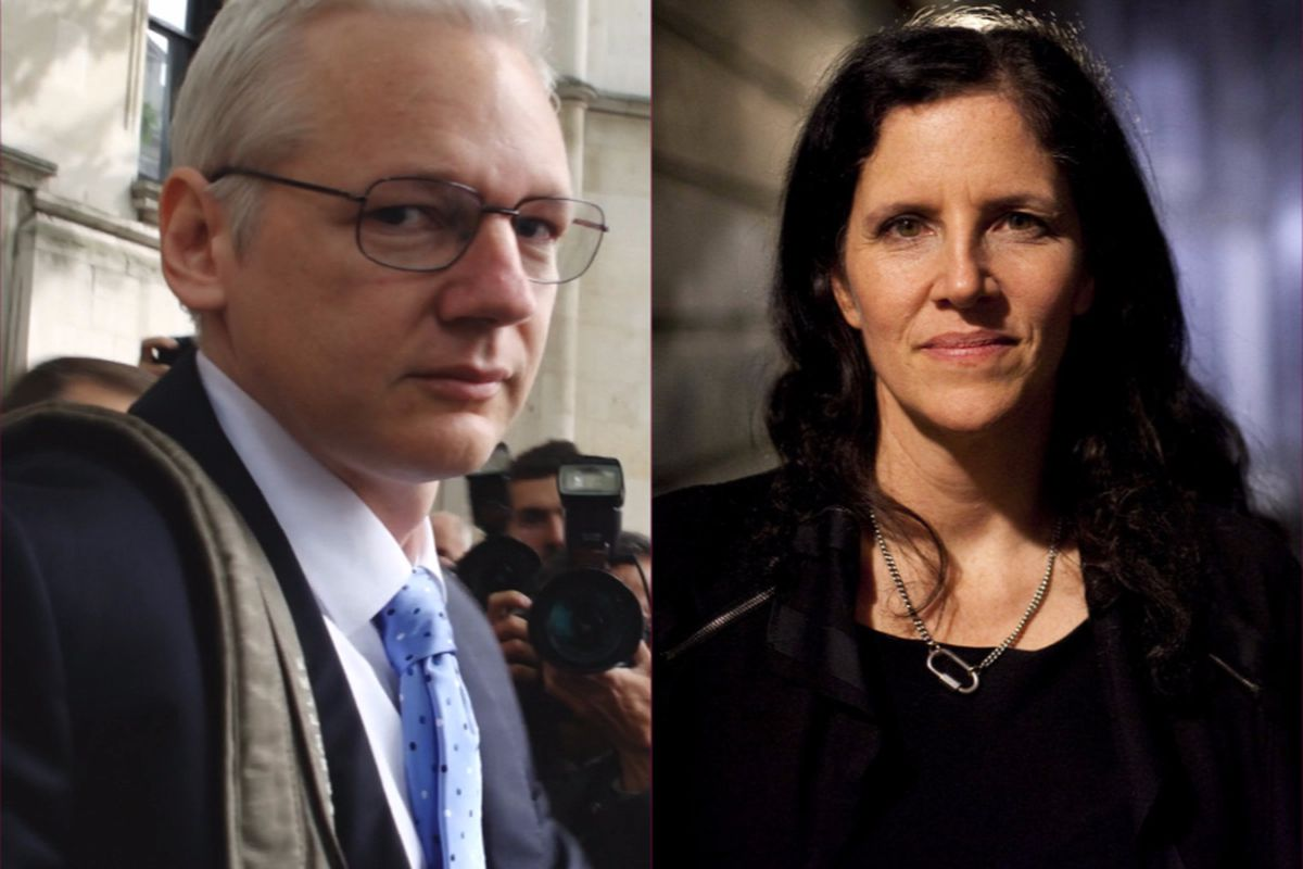 Wikileaks founder Julian Assange and documentarian Laura Poitras