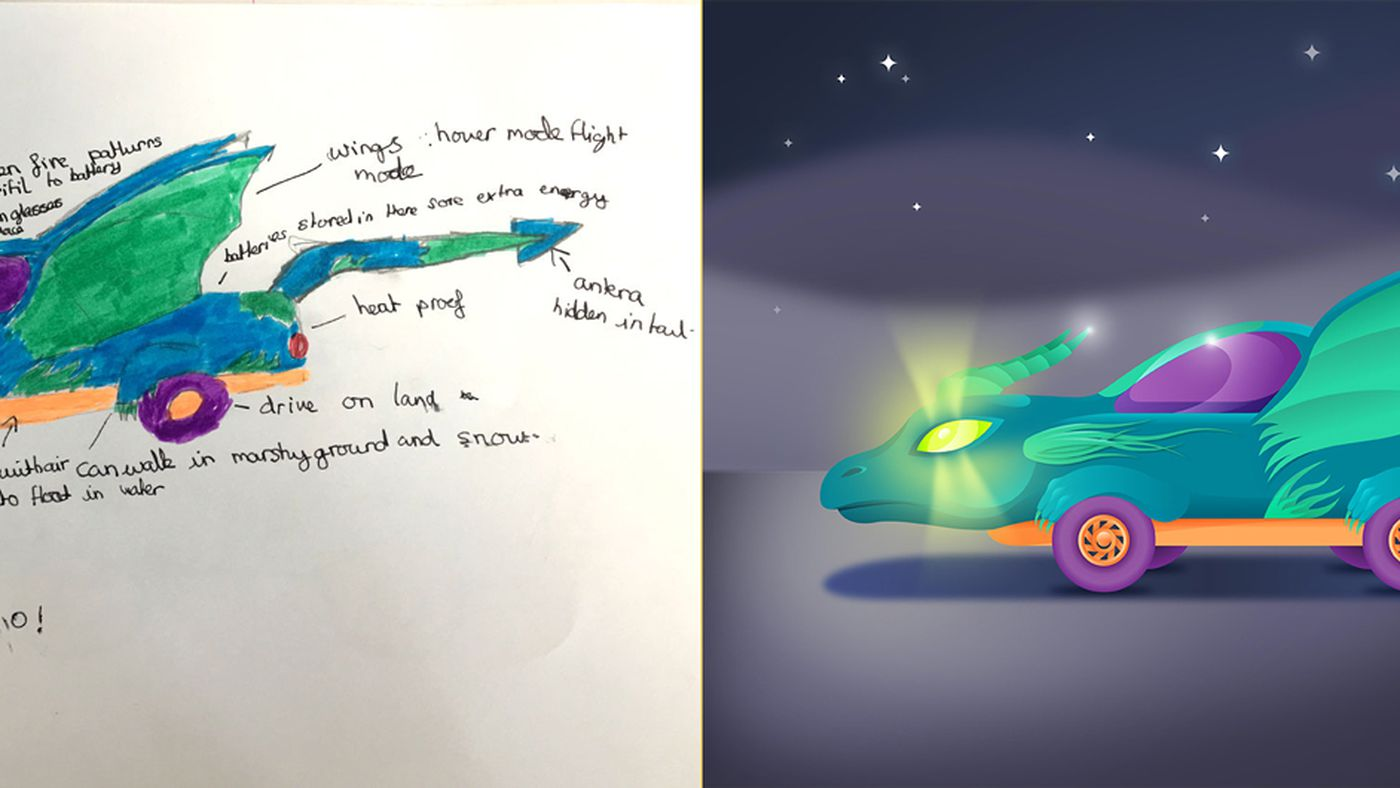 A Bunch Of 11 Year Olds Designed The Cars Of The Future And The Results Are Utterly Delightful The Verge