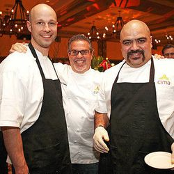 Exec chef Richard Sandoval poses with his crew from Cima at the Grand Tasting.