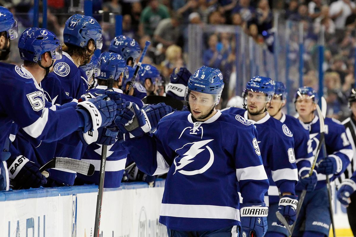 Whatever you call the line of Johnson, Kucherov and Palat, they came up big in the Lightning's 4-3 OT win over New Jersey Thursday night in Tampa.