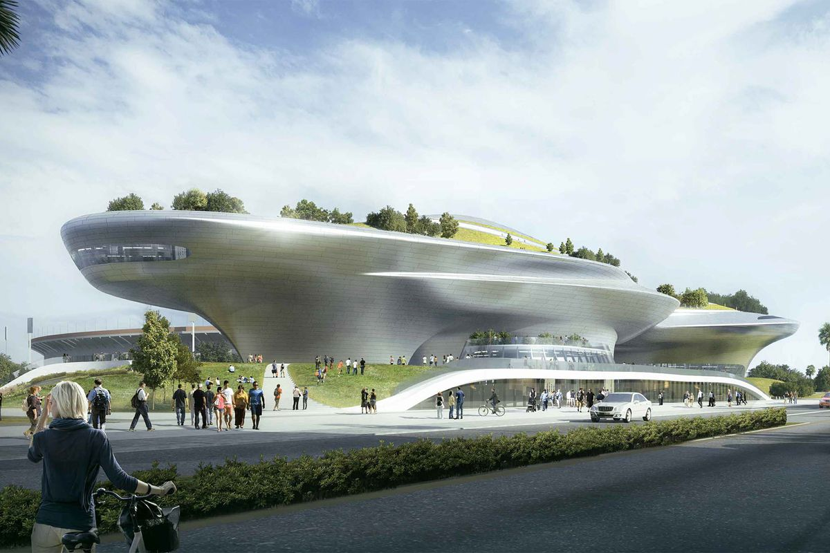 Updated designs for the george lucas museum in exposition for Star wars museum san francisco