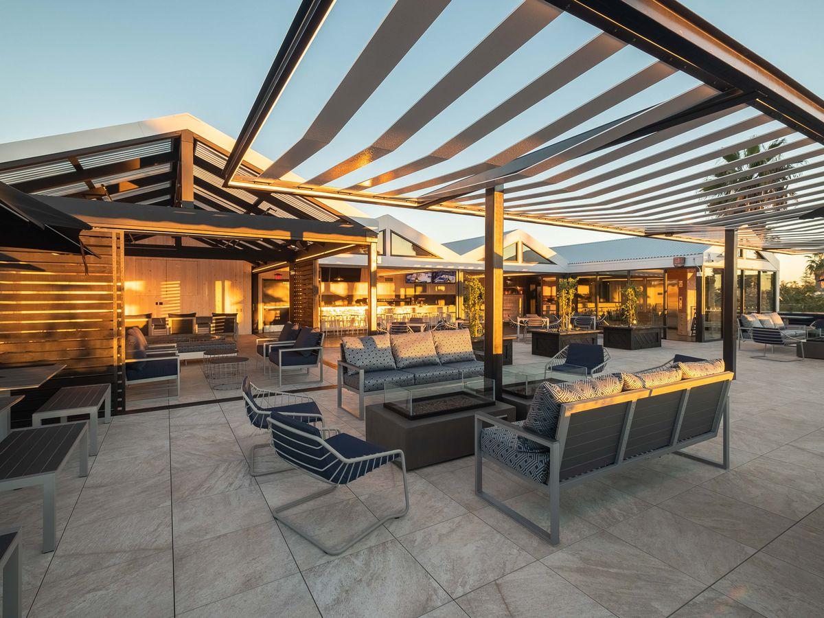 Rooftop patio at Kairoa Brewing Company