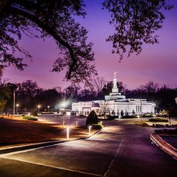 Scott Jarvie is on a mission to capture and compile pictures of every LDS temple in the United States. The Baton Rouge Louisiana Temple is pictured here.