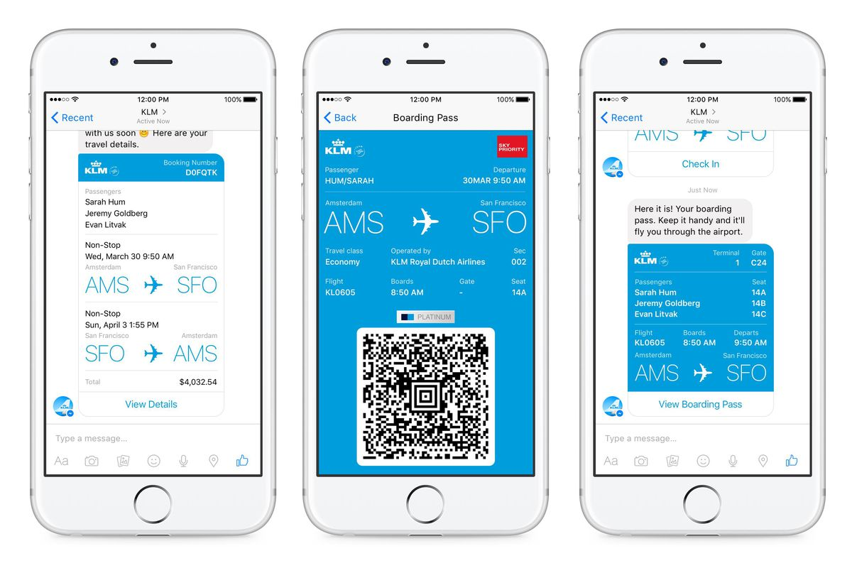 Facebook Messenger Can Now Be Your Boarding Pass On Klm Flights