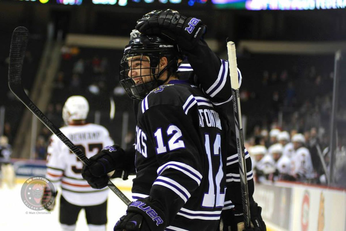 J-P LaFontaine scored Minnesota State's only goal in the 1-1 tie